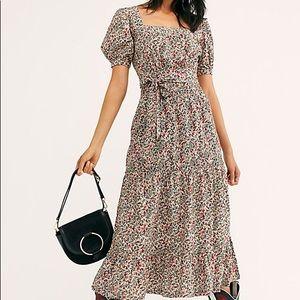 Free People Heartlands Maxi Peasant Dress Midi